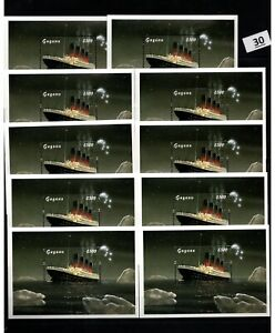 SB 10X GUYANA - MNH - TRANSPORTATION - SHIPS - TITANIC - WHOLESALE