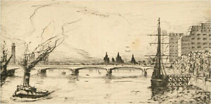 Early 20th Century Etching - Four Nautical Etchings