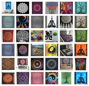 COTTON Wall Hanging LARGE Tapestry Bohemian Hippie Mandala Bedspread Yoga Throw