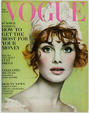 JEAN SHRIMPTON Richard Avedon ARTHUR C CLARK Vogue magazine US April 15th 1968