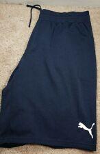 PUMA-Navy Blue Woven Check Poly, Mens Athletic Perform.Training Shorts-(XXL)