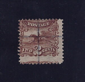 "113 - 2c   2-Way Misperf Error / EFO ""Pony Express"" Series 1869"