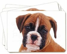 Red and White Boxer Puppy Picture Placemats in Gift Box, AD-B43P