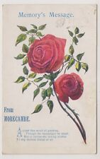 Lancashire postcard - Memory's Message from Morecambe - Novelty - P/U 1915
