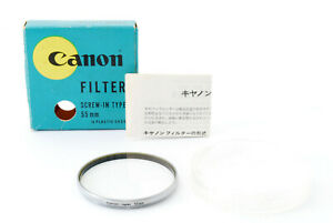 [Near Mint] Canon Genuine SL-39.3C 55mm Lens Filter w/Box In Case From Japan