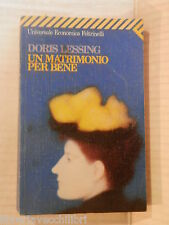 UN MATRIMONIO PER BENE Doris Lessing Francesco Saba Sardi 1996 romanzo libro di