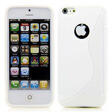 Apple iPhone 5 / 5S / SE  TPU Silikon Case Schutz Ring Hülle Etui S-Line Weiß