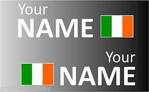 1 Pair Handed Irish Rally Car Name decal sticker graphics  Ireland flag