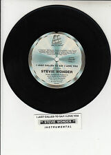 "STEVIE WONDER I Just Called To Say I Love You 7"" 45 rpm record + juke box strip"