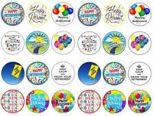 24 smobilizzo CHIGNON Fairy Decorazioni per Cupcake Compleanni Party commestibili carta