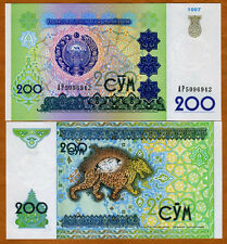 Uzbekistan, 200 Sum, 1997, P-80, UNC > Ornate