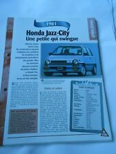 Honda Jazz City 1981 Fiche Technique Auto