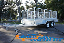 12x6 HOT DIP GALVANISED FULLY WELDED TANDEM TRAILER WITH 900MM CAGE ATM 3200KG