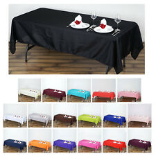 """60x102"""" Polyester Rectangle Tablecloths For Wedding Party Banquet Events"""