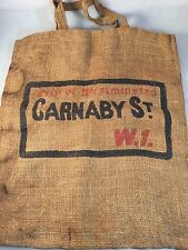"City Of Westminster Carnaby St W1 Brown Reusable BurlapTote Bag 18"" X 15"""