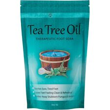 Tea Tree Oil Foot Soak With Epsom Salt Helps Soak Away Toenail Fungus Athlet.
