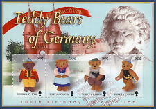 Turks & Caicos 2003 MNH 100th Anniv Teddy Bears of Germany 4v M/S Stamps