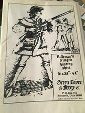 GREEN RIVER FORGE RIFLEMAN'S  FRINGED HUNTING SHIRT PATTERN