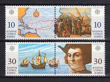 CYPRUS 1992 EUROPA CEPT MNH (Vl. 620-623)