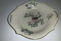 """Lenox Serenade Bird With Gold Trim And Pair Of Handles & Blossom 8"""" Candy Dish"""