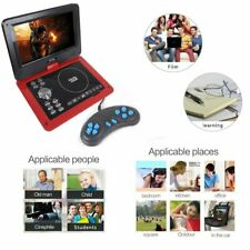 """10"""" Portable DVD Player In-Car Rechargeabl Swivel Screen+ Game Dics CD USB Kits"""