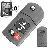 Auto Klapp Schlüssel Ersatz Gehäuse Mazda 2 3 5 6 CX-7 RX-8 MX-5 CX-9  4Tasten