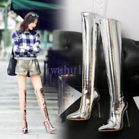 Women's Chic Stiletto High Heel Over The Knee High Boots Pointy Toe Nightclub