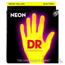 DR Strings K3 NEON Hi-Def YELLOW ELECTRIC Seven String Guitar NYE7-10 10-56