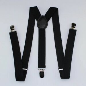 Multycolor  Braces Plain 25mm Wide & Heavy Duty Suspenders Adjustable Unisex