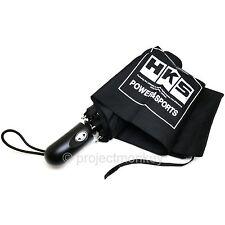HKS 51007-AK215 Block Logo Compact Umbrella w/ Storage Pouch Black Genuine JDM