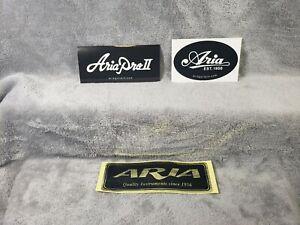 Aria Pro Guitars 3 Sticker Set<>ORIGINAL<>GENUINE