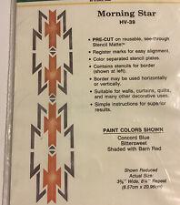 Home Decor Stencil Ease HV-39 Morning Star ~New & Sealed Instructions ~Southwest