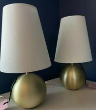 Kate Spade PAIR of Round Gold Sphere Table Lamp