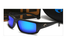 Costa Black frame blue film Polarized Men's Sunglasses CL 10 OGMP 145/59/37 mm