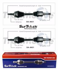 Saab 9-5 FWD 1999-2001 Pair of Front CV Axle Shaft Assemblies SurTrack Set
