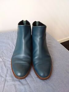 EUC Teal Leather Beau Coops Ankle Boots Sz40 RRP $450