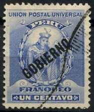 Peru 1896-1900 SG#O348, 1c Ultramarine, Official Used #E1286
