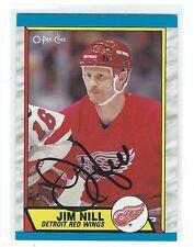 Jim Nill Signed 1989/90 O-Pee-Chee Card #224