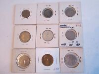 17 COINS FROM ARGENTINA & GREECE -1950  TO 2000 - IN COIN SLEEVES- TUB A30