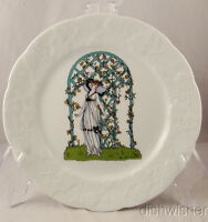 """Lierre Sauvage CNP France Lady Standing by Trellis DANSK IVY  Salad Plate 8"""""""