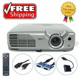 Epson PowerLite 821p 3LCD Projector 2600 ANSI HD 1080i HDMI w/Adapter, bundle