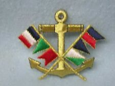 Nautical Anchor Flag Embroidered Iron On Applique