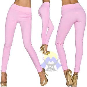 PANTALONE da DONNA Leggings ELASTICIZZATI Tuta FITNESS Pants SEXY Eleganti 21665