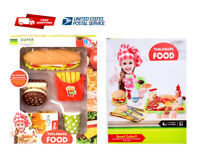 Food Set Toy Pretend Play Grocery Kitchen For Kids Toddle Food Tableware Toy SET