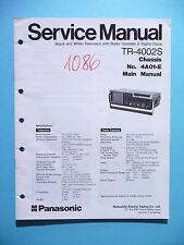 Servicio Manual de instrucciones para Panasonic tr-4002s, original