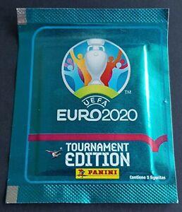 Panini UEFA EURO 2020 Tournament Ed. Blue Südamerika Tüte / Packet 5 figuritas