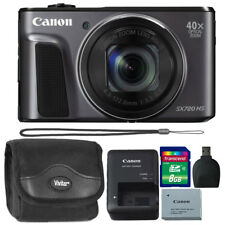 Canon PowerShot SX720 HS 20.3MP 40X Zoom Wifi NFC Digital Camera Black + Bundle