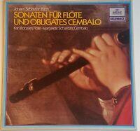 Bach Sonaten für Flöte und Cembalo Bobzien Scharitzer Archiv Stereo 2547 025