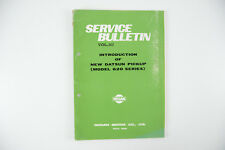 Datsun 620 Pick-up 1972 80 page factory introduction manual Vol 162