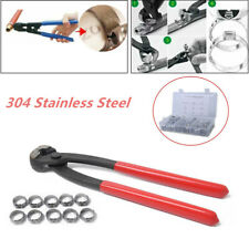 100X 5.3-14.0mm Stainless Steel Single Ear Hose Clamps with Clamp Pliers Pincer